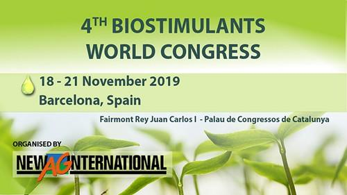 El Biostimulants World Congress 2019 que se celebrará en Barcelona cuenta con 8 Gold Sponsors